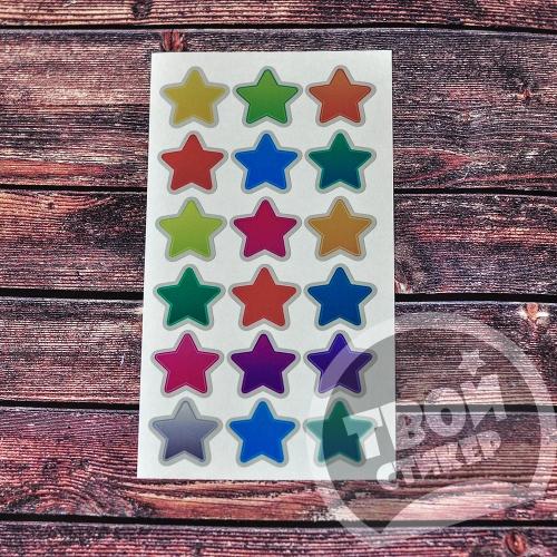 """Светоотражающие цветные стикеры """"Радужные звезды"""""""