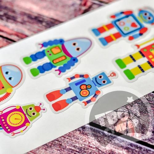 """Светоотражающие цветные стикеры """"Роботы"""""""