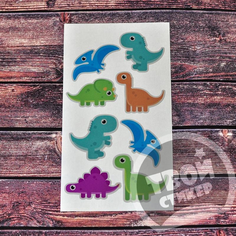 """Светоотражающие цветные стикеры """"Динозавр"""""""