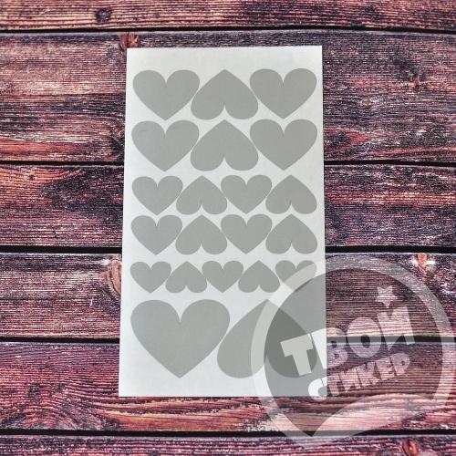 """Светоотражающие стикеры """"Сердечки"""""""