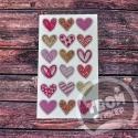 """Светоотражающие цветные стикеры """"Цветные сердечки"""""""