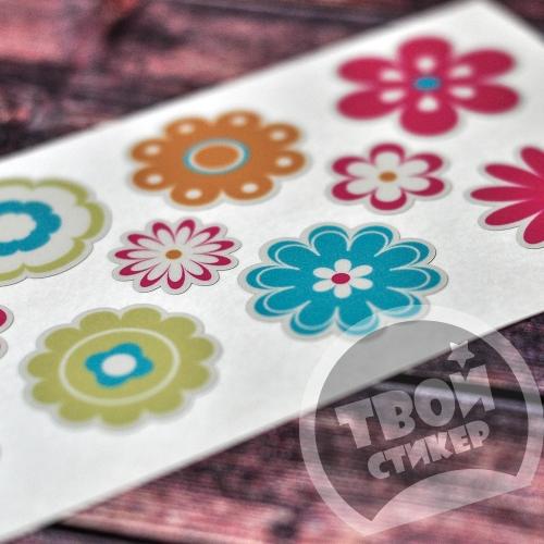 """Светоотражающие цветные стикеры """"Цветы"""""""